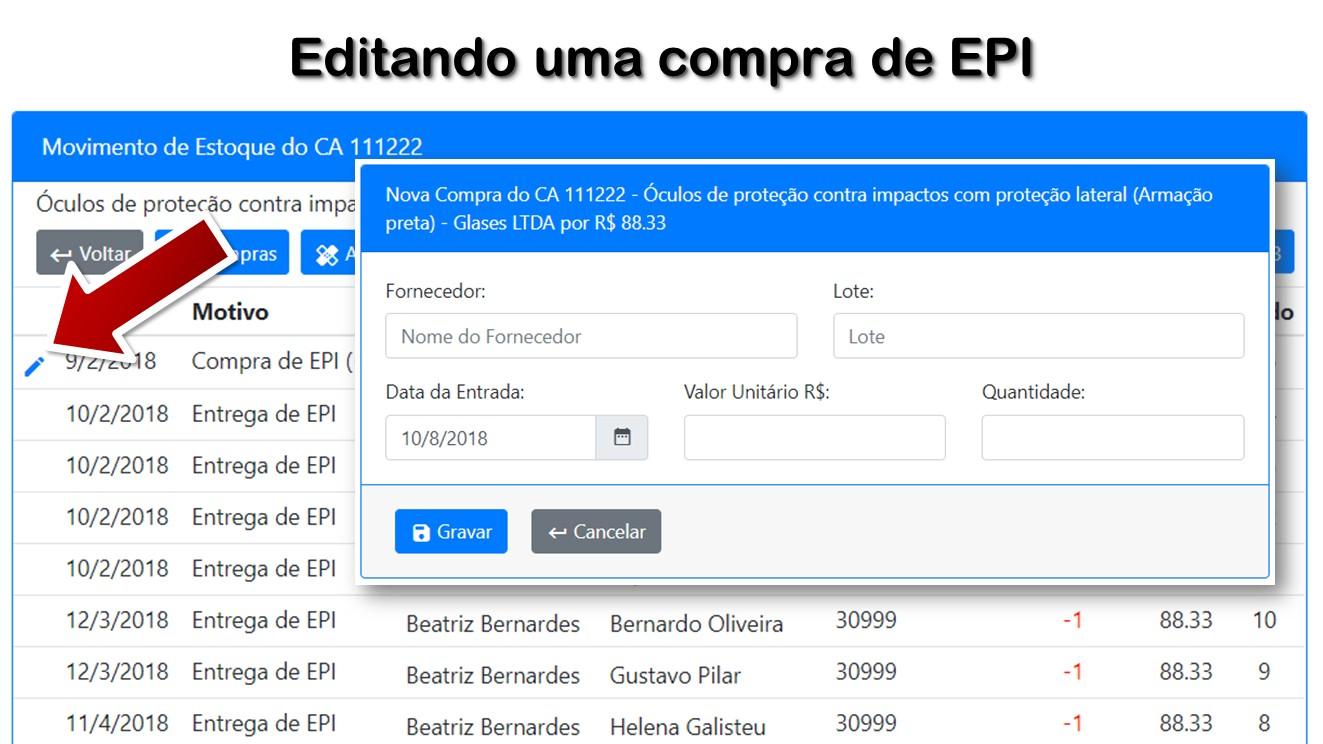d374f2686469f 09 - Editando uma compra de EPI