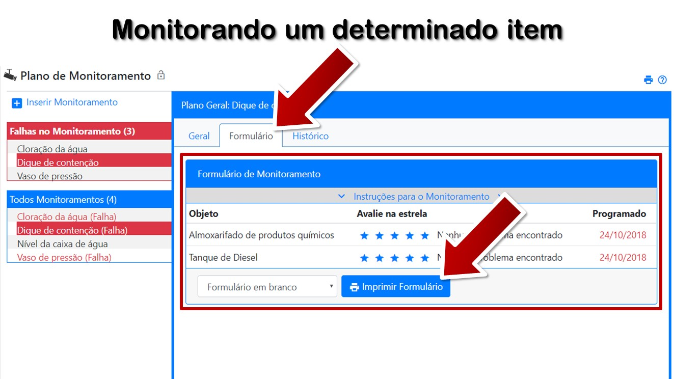 Monitorando um determinado item