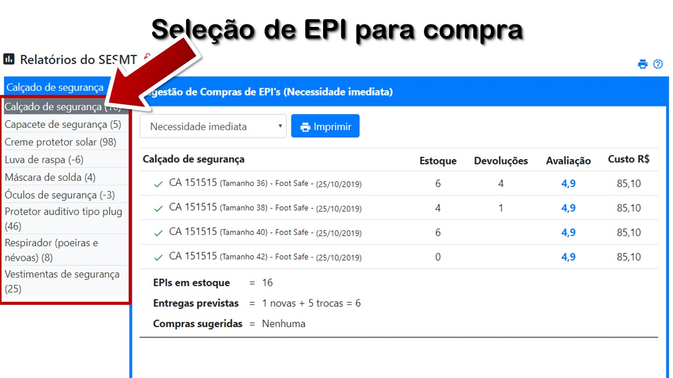 84eb1ebac3394 02 - Configuração do relatório de compras de EPI